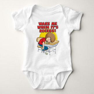 Wake me when it's recess tee shirt