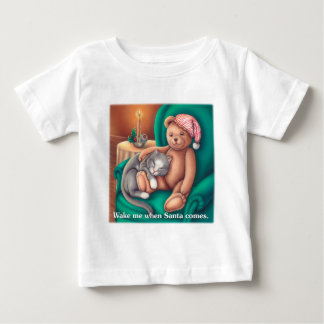 Wake Me When Santa Comes Baby T-Shirt