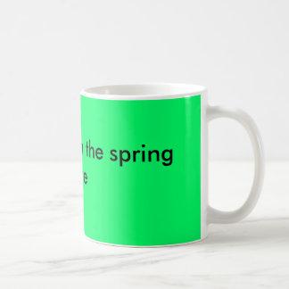 Wake me when the spring is here coffee mug