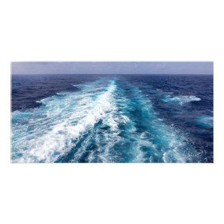 wake of a cruise ship card