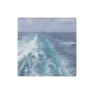 wake of a cruise ship stone magnet
