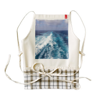 wake of a cruise ship zazzle HEART apron