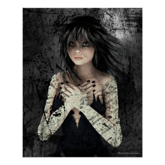 Wake Of Emotion Gothic Art Poster