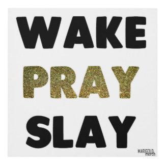 Wake Pray Slay Panel Wall Art