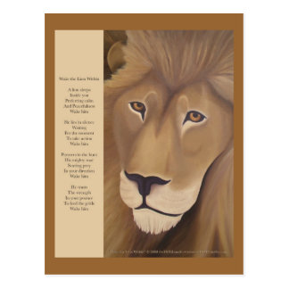 Wake the Lion Within Postcard