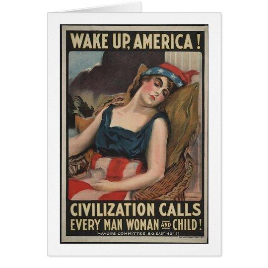 Wake Up-1917 Card