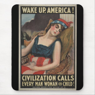 Wake Up-1917 Mouse Pad