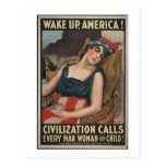 Wake Up-1917 Postcard