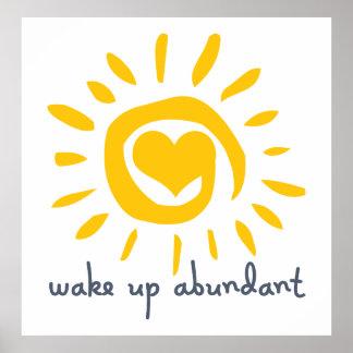 Wake Up Abundant Poster