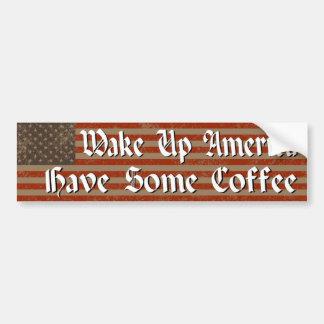 Wake Up America! Bumper Sticker