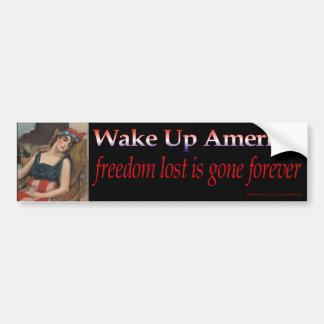 Wake Up America Bumper Sticker