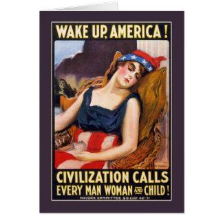 Wake up, America! Card