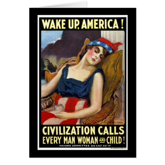 Wake Up America Card