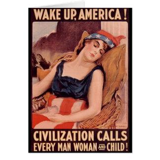 Wake Up America Card