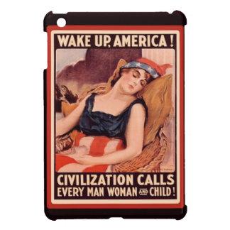 Wake Up America Civilization Calls Retro Vintage iPad Mini Cover