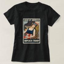 Wake Up, America!  Impeach Trump Vintage Poster T-Shirt