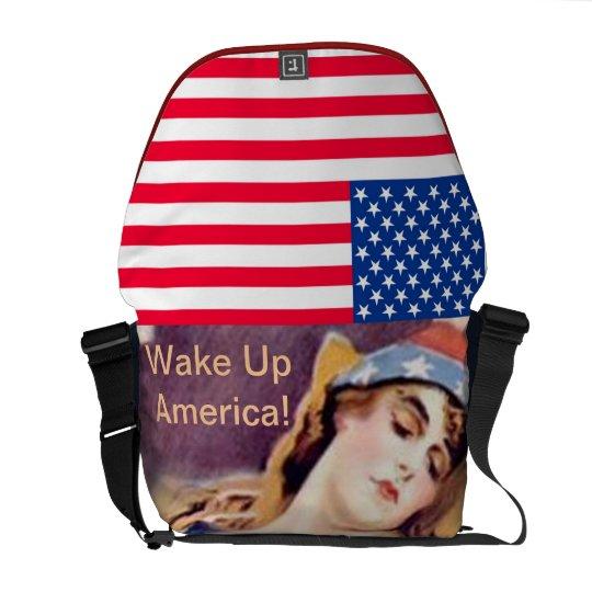 WAKE UP AMERICA ! MESSENGER BAG