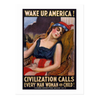 Wake Up America Poster Postcard