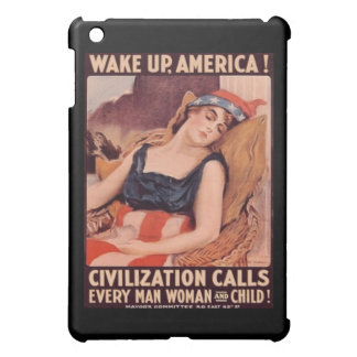 Wake Up America Vintage Art Deco WW1 Lady Liberty iPad Mini Cover