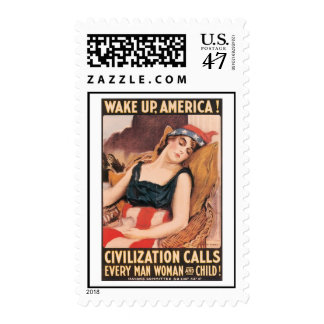 Wake Up America World War 2 Postage
