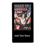 Wake Up America World War II Shipping Labels
