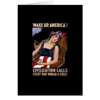 Wake-Up America WWI Card