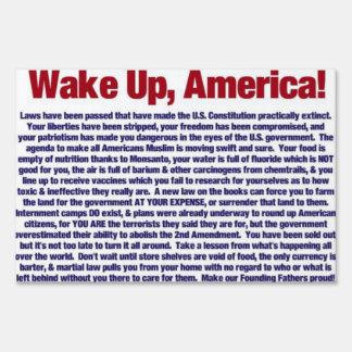 Wake Up America Lawn Signs
