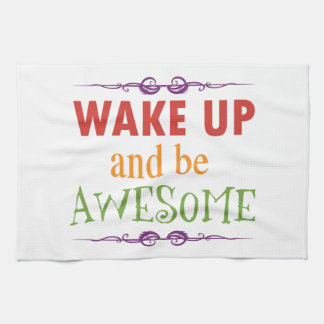 Wake Up and be Awesome Hand Towel