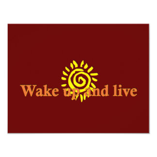 Wake Up and Live Card