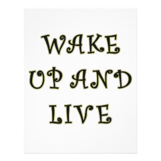 Wake Up And Live Flyer