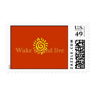Wake Up and Live Postage Stamps