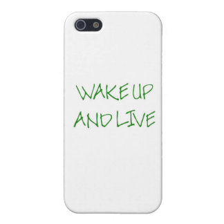 Wake Up And Live (simple green) Case For iPhone SE/5/5s