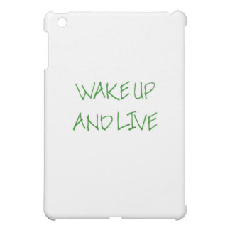 Wake Up And Live simple green iPad Mini Case