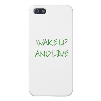 Wake Up And Live (simple green) iPhone SE/5/5s Cover
