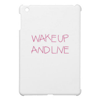 Wake Up And Live tilted pink iPad Mini Case
