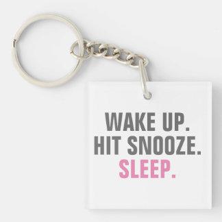 Wake Up and Sleep Keychain