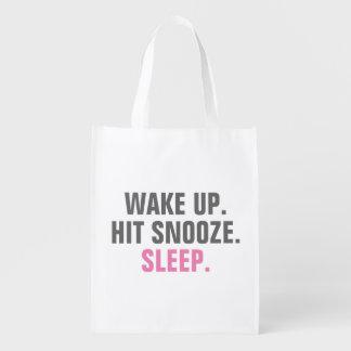 Wake Up and Sleep Market Tote