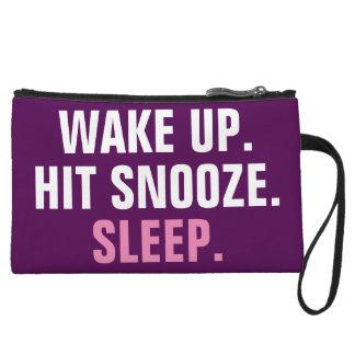Wake Up and Sleep Wristlet