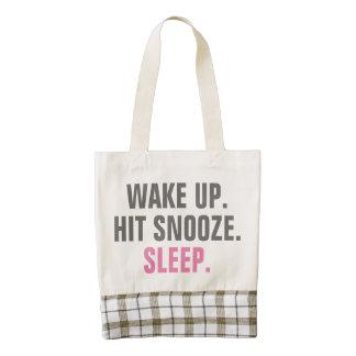 Wake Up and Sleep Zazzle HEART Tote Bag