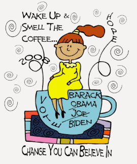 Wake up and smell the coffee shirt