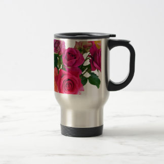 Wake Up And Smell The Roses 15 Oz Stainless Steel Travel Mug