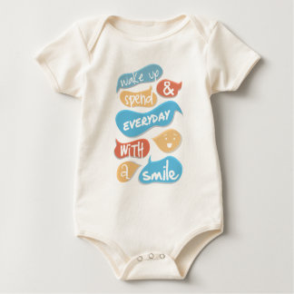 Wake up and spend every day with a smile baby bodysuit
