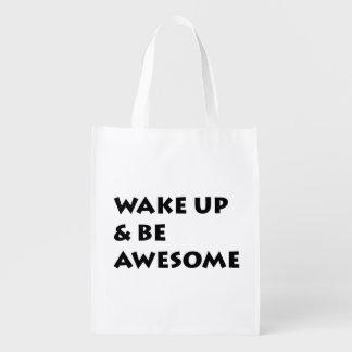 Wake Up & Be Awesome Bag