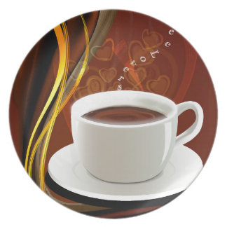 Wake up-Call Coffee Lovers Gifts Party Plate