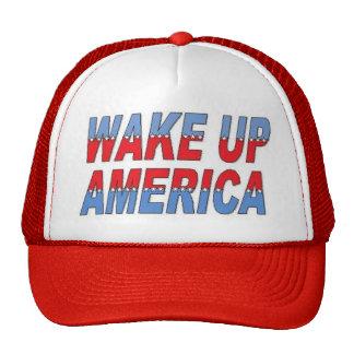 Wake up cap trucker hat