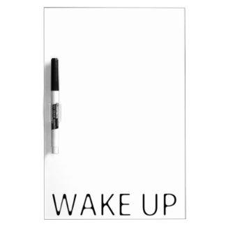 WAKE UP DRY ERASE WHITE BOARD