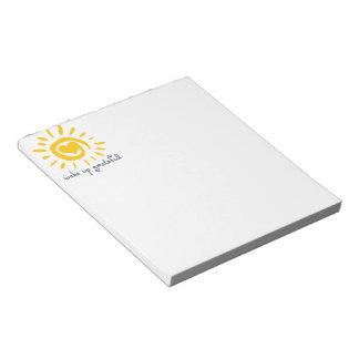 Wake Up Grateful Note Pad