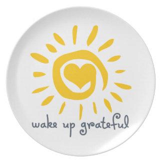 Wake Up Grateful Plates