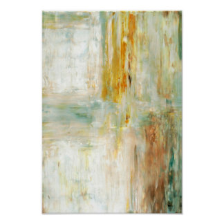 'Wake Up' Green Abstract Art Poster