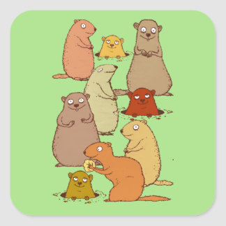 Wake Up Groundhogs! Square Sticker